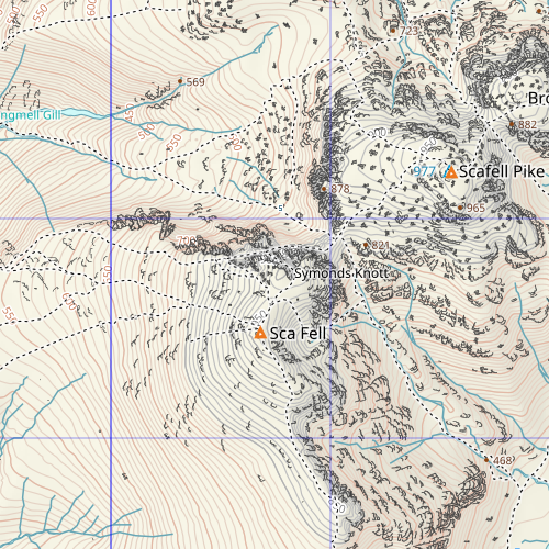 Scafell Pike - zoom 8 - new tiles